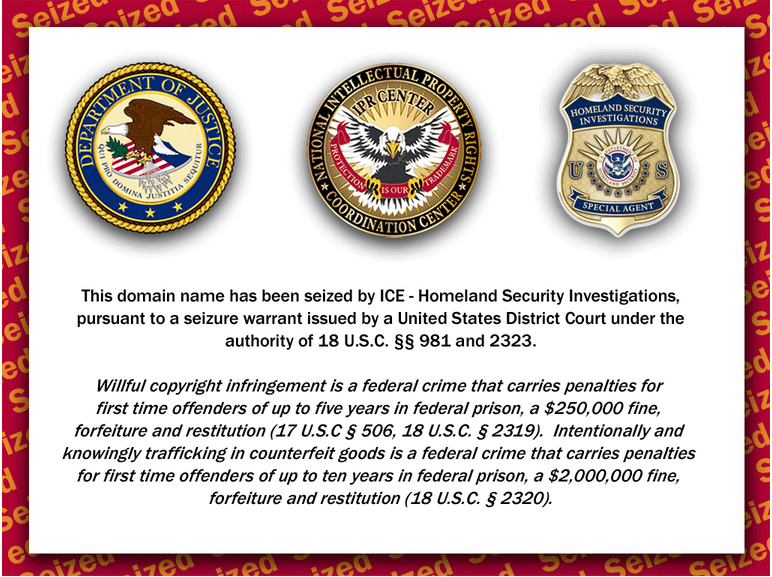 Canadian-medshop.com has been Seized by ICE