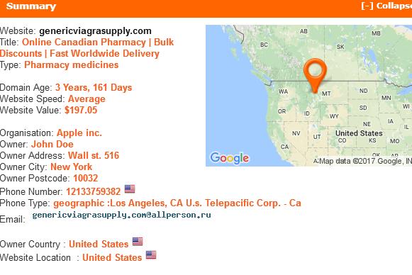 Genericviagrasupply.com Summary Information