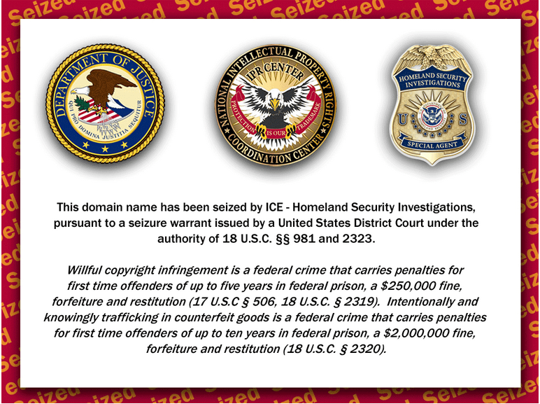 Inhousegeneric.com has been Seized by ICE