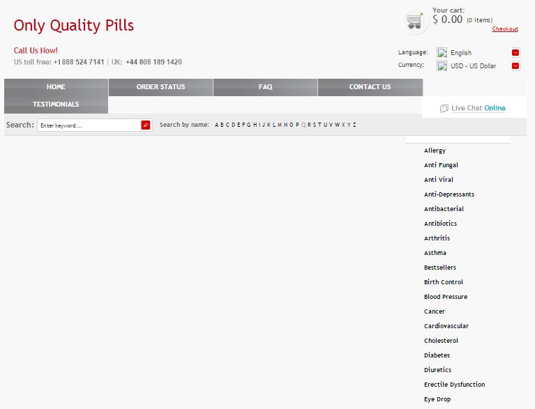Onepropill.com Main Page