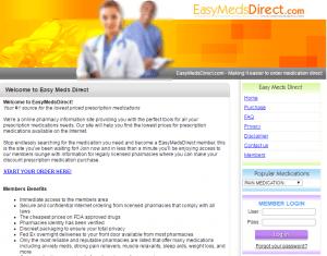 Easymedsdirect.com Main Page