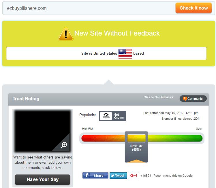 Ezbuypillshere.com Trust Rating