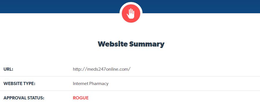 Meds247online.com Is a Rogue Internet Pharmacy