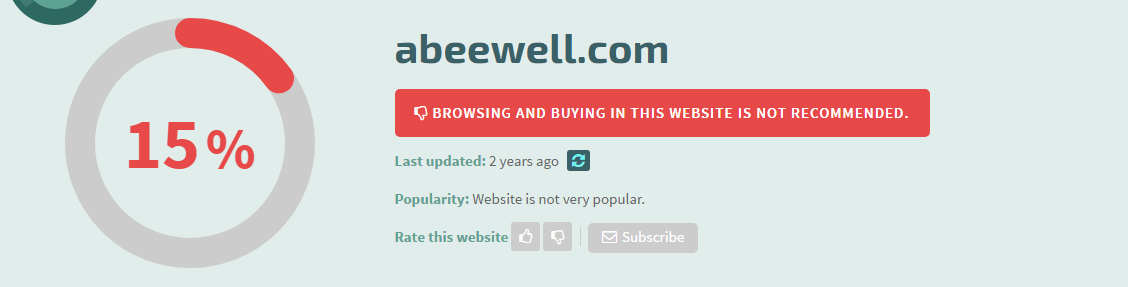 Abeewell.com Safety Information