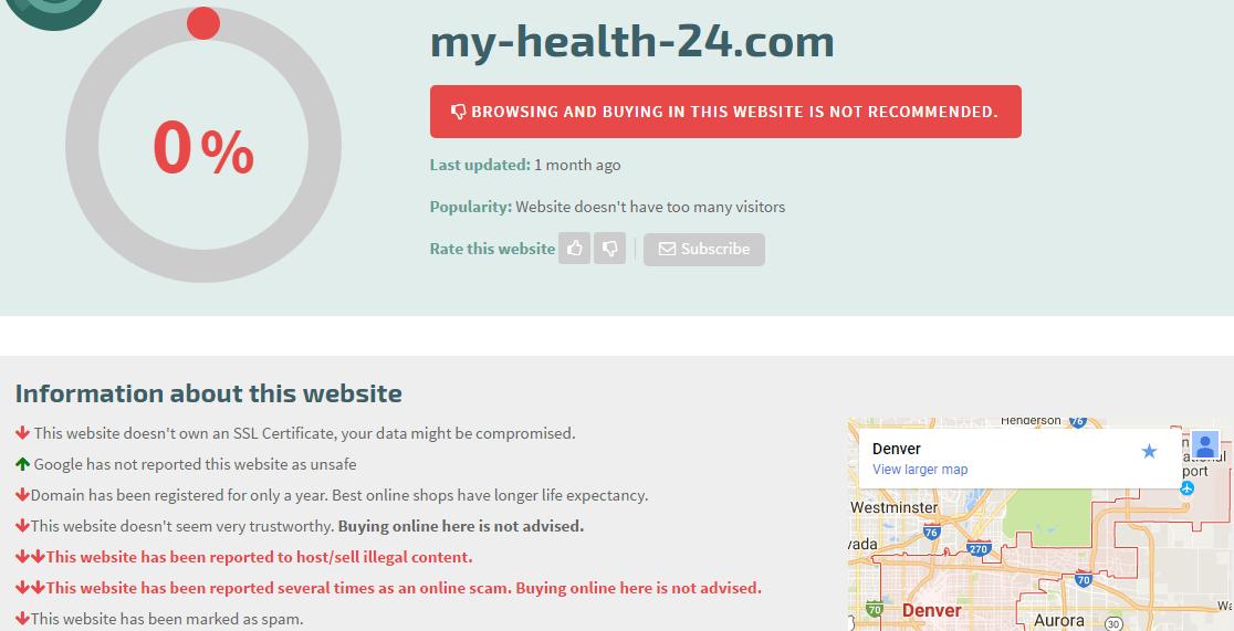 My-health-24.com Main Page