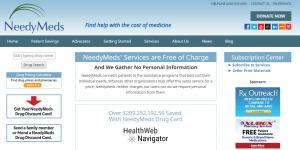 Needymeds.org Main Page