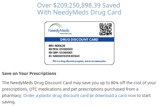Needymeds.org Discount Card