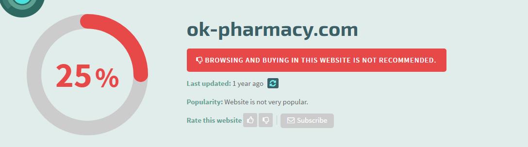Ok-pharmacy.com Safety Information