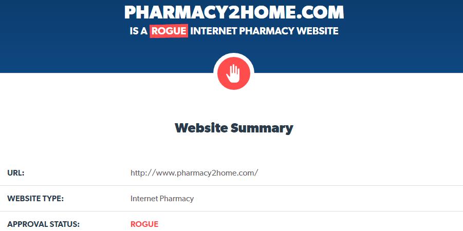 Pharmacy2home.com Is a Rogue Internet Pharmacy