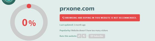 Prxone.com Safety Information