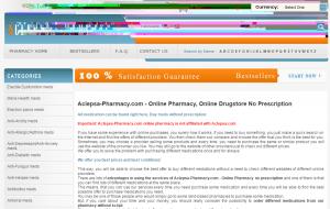 Aclepsa-Pharmacy.com Main Page
