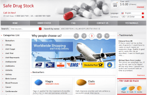 Safedrugstock.com Main Page