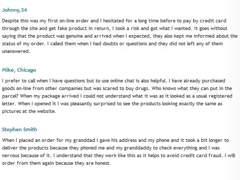 Safedrugstock.com Testimonials