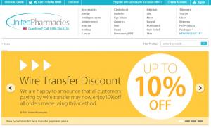 Unitedpharmacies.com Main Page