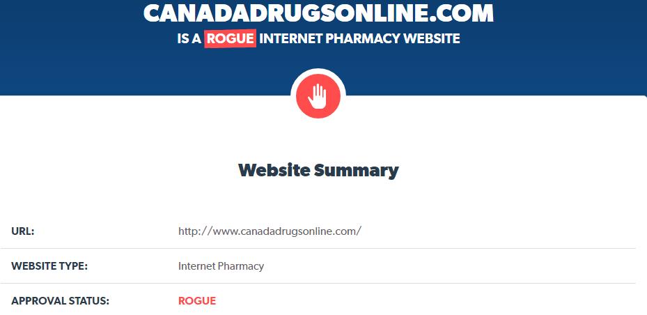 Canadadrugsonline.com Is a Rogue Internet Pharmacy
