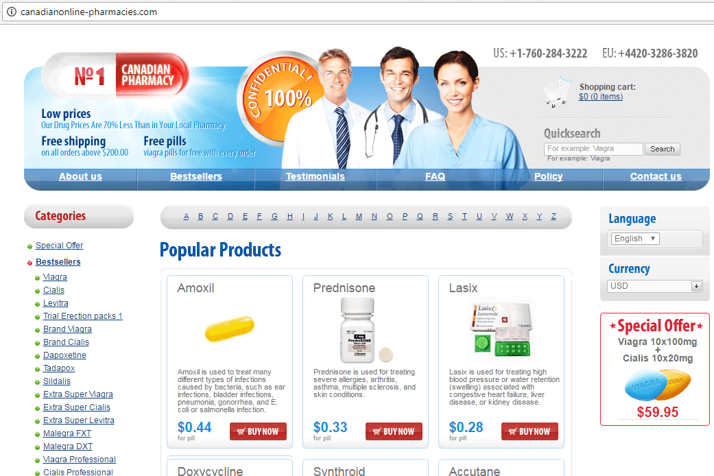 N1 Canadian Pharmacy (Canadianonline-pharmacies.com) Home Page
