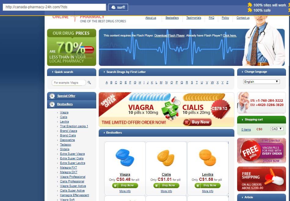 Canadian Pharmacy 24 (Canada-Pharmacy-24h.com) Main Page