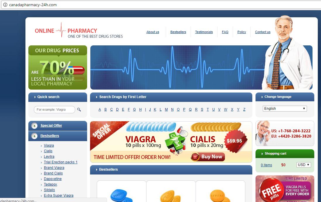 Canadian Pharmacy 24 (Canadapharmacy-24h.com) Main Page