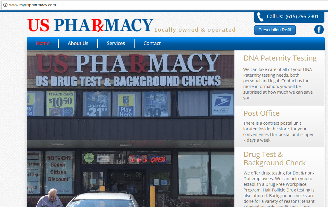 My US Pharmacy Homepage