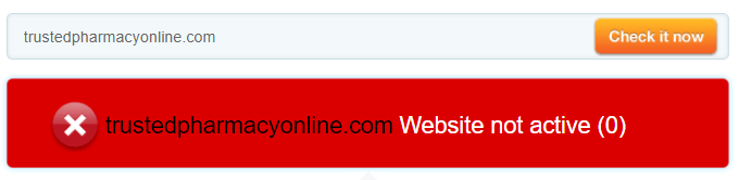 Trusted Pharmacy Online Website is not Active