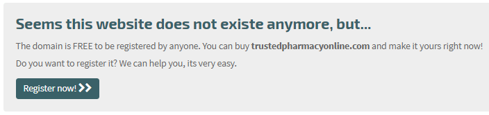 Trusted Pharmacy Online Website Does Not Exista