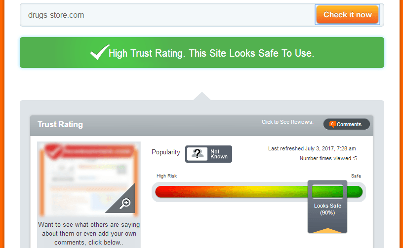 Drugs-store.com Trust Rating