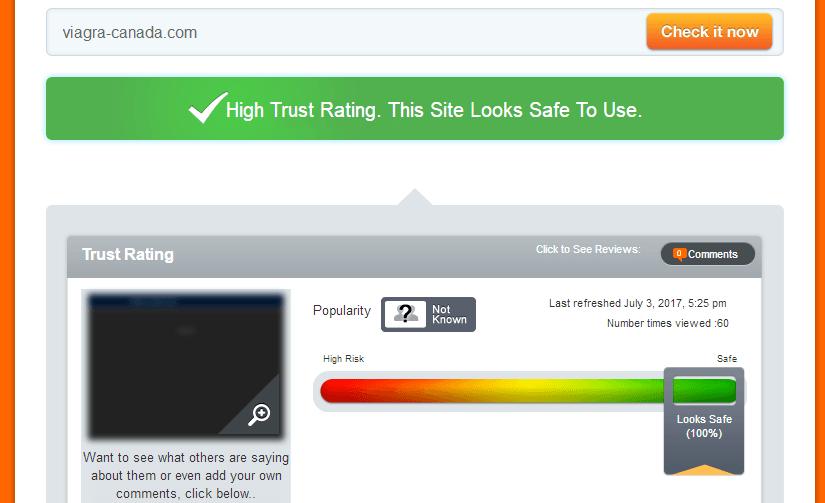 Viagra-canada.com Trust Rating