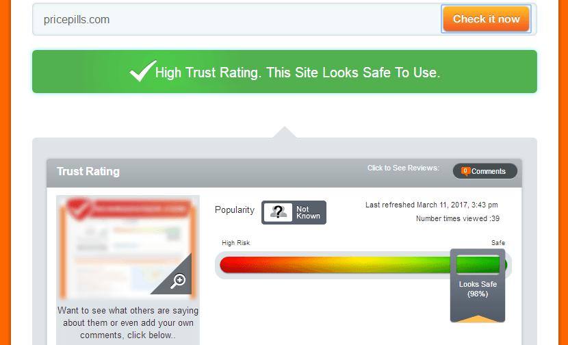 Pricepills.com Trust Rating