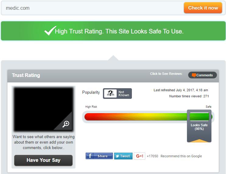 Www-Medic.com Trust Rating