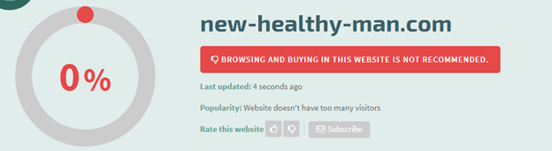 New-Healthy-Man.com Safety Level
