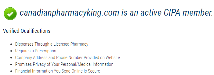 Canadian Pharmacy King CIPA Membership