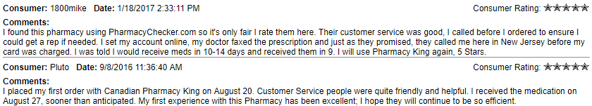 Canadian Pharmacy King Reviews