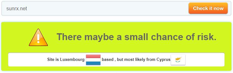 Sunrx.net Trust Rating