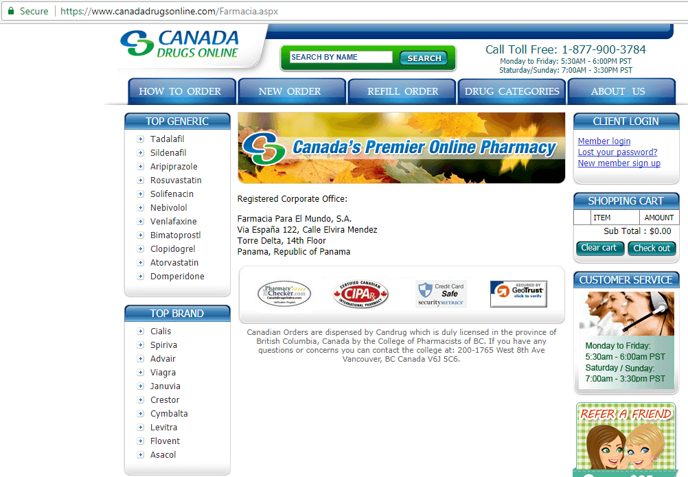 Canadian Pharmacy King Canadadrugsonline.com Main Page