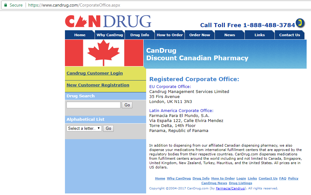 Canadian Pharmacy King Candrug.com Main Page