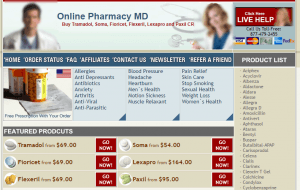 Onlinepharmacymd.com Main Page