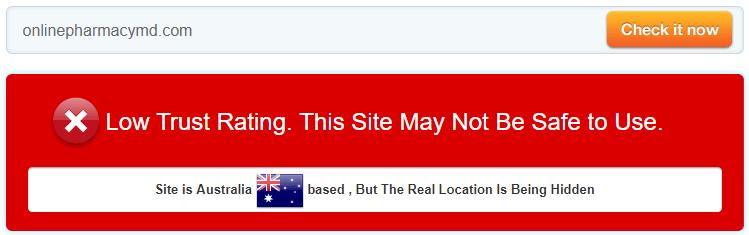 Onlinepharmacymd.com Trust Rating