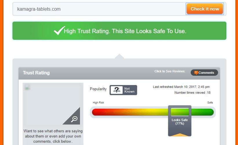 Kamagra-tablets.com Trust Rating
