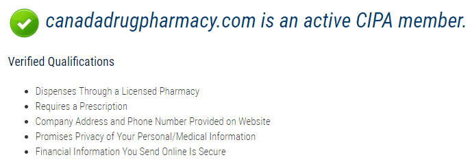Canada Drug Pharmacy CIPA Membership