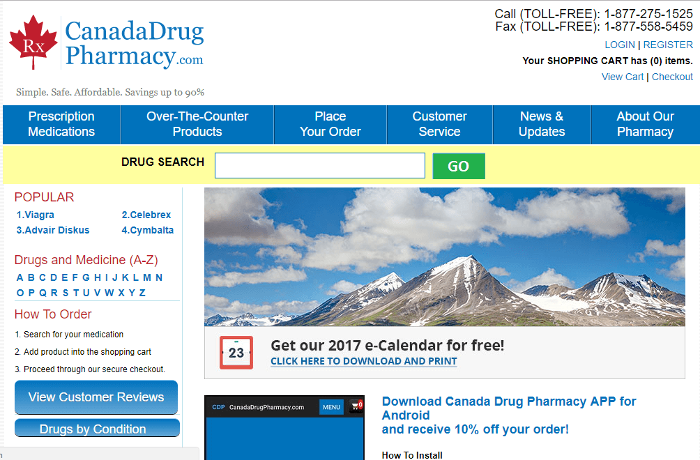 Canadadrugpharmacy.com (Canada Drug Pharmacy) Homepage
