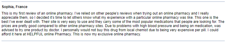 Canadian Pharmacy Feedback
