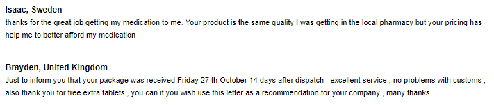 Top Canadian Pharmacy Online Feedback for one of its Hair Loss Product