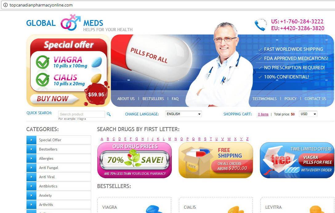 Top Canadian Pharmacy Online (Topcanadianpharmacyonline.com) Home Page