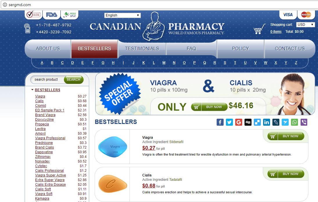 Canadian Pharma (Sergmd.com) Home Page