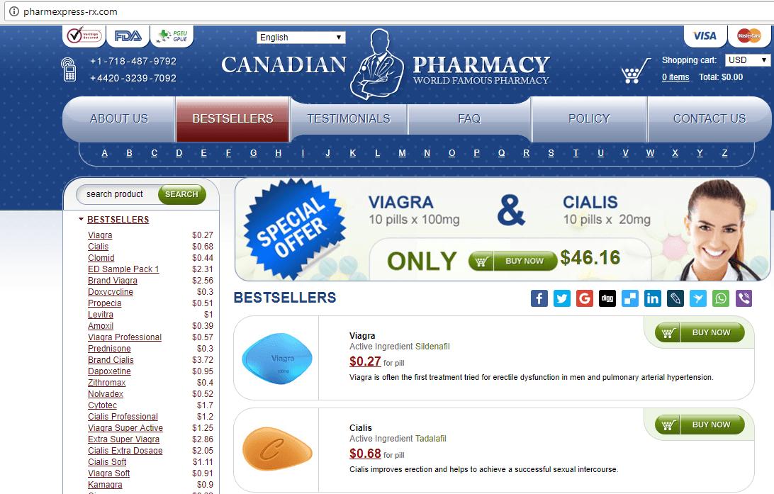 Canadian Pharma (Pharmexpress-rx.com) Home Page