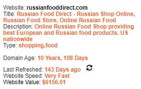 Russian Pharmacy Domain Information
