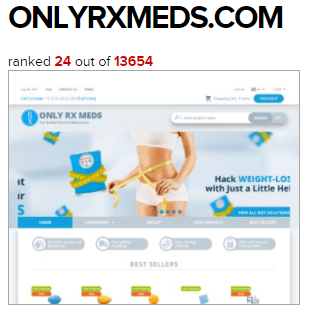 Onlyrxmeds.com ranked 24th by Online Pharmacy Reviews