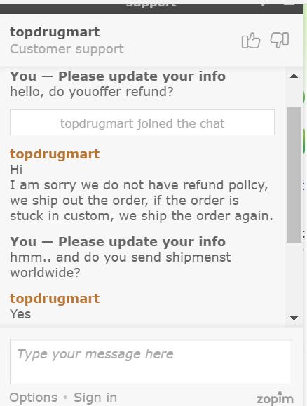 TopDrugMart.com Live Chat
