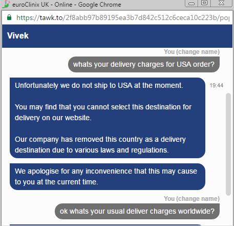 Euroclinix.co.uk Live Chat