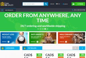 Crazyrxsales.com Main Page